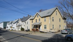 Identical homes along Fourth Street built around 1895 for workers at the nearby shoe factory.  Photo, Massachusetts Cultural Resource Inventory