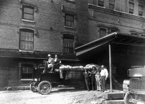 Delivering the hops to Berkshire Brewing, located on South John Street.  Courtesy, Berkshire Historical Society