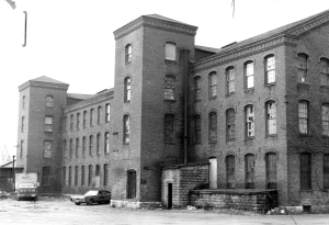 Kellogg Steam Power Building in photo from early 1980s.  Photo, courtesy of Massachusetts Cultural Resource Inventory