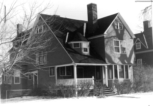 One of A.H. Rice homes, on Bartlett Avenue.  Photo, Massachusetts Cultural Resource Information System