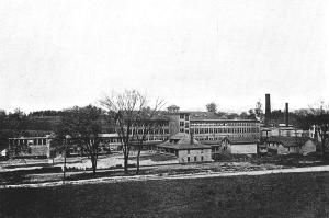 """Taconic Mill, as seen from North Street, 1911. Photo, from """"Pittsfield, The Gem City of the Berkshire Hills"""